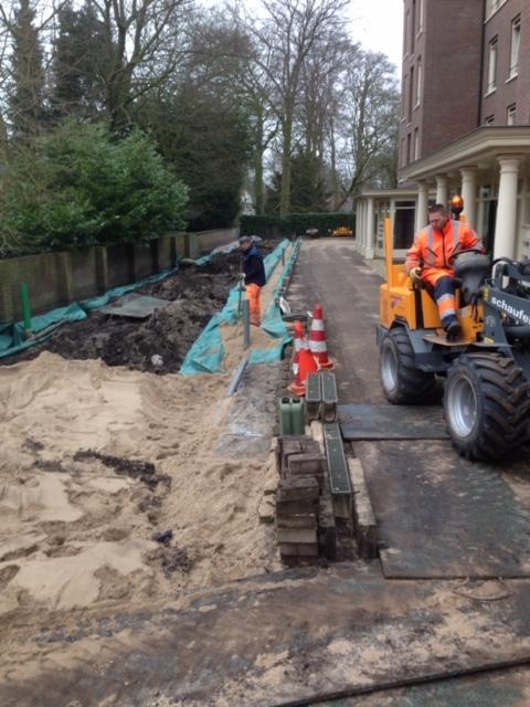Aanleg regenwaterafvoer VVE Wilhelminapark