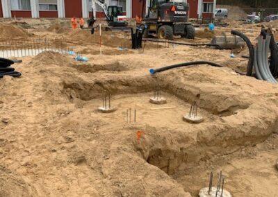 Ontgraven sleufbekisting Markenhaven
